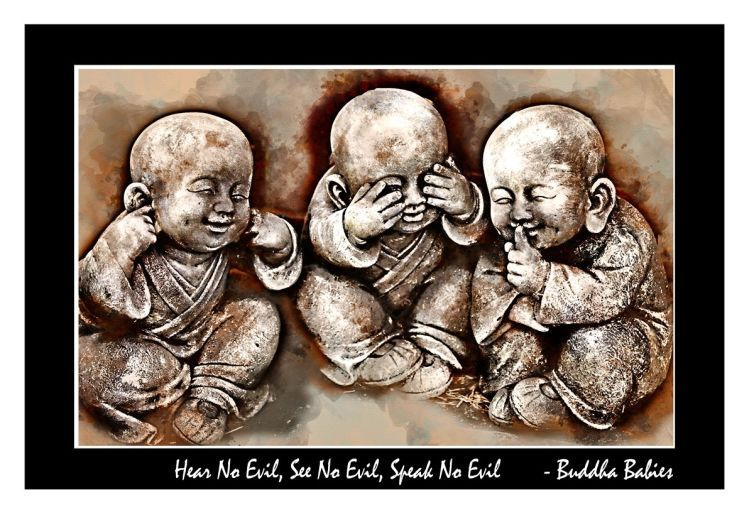 Buddha Babies Watercolour – Canvas Floating Frame